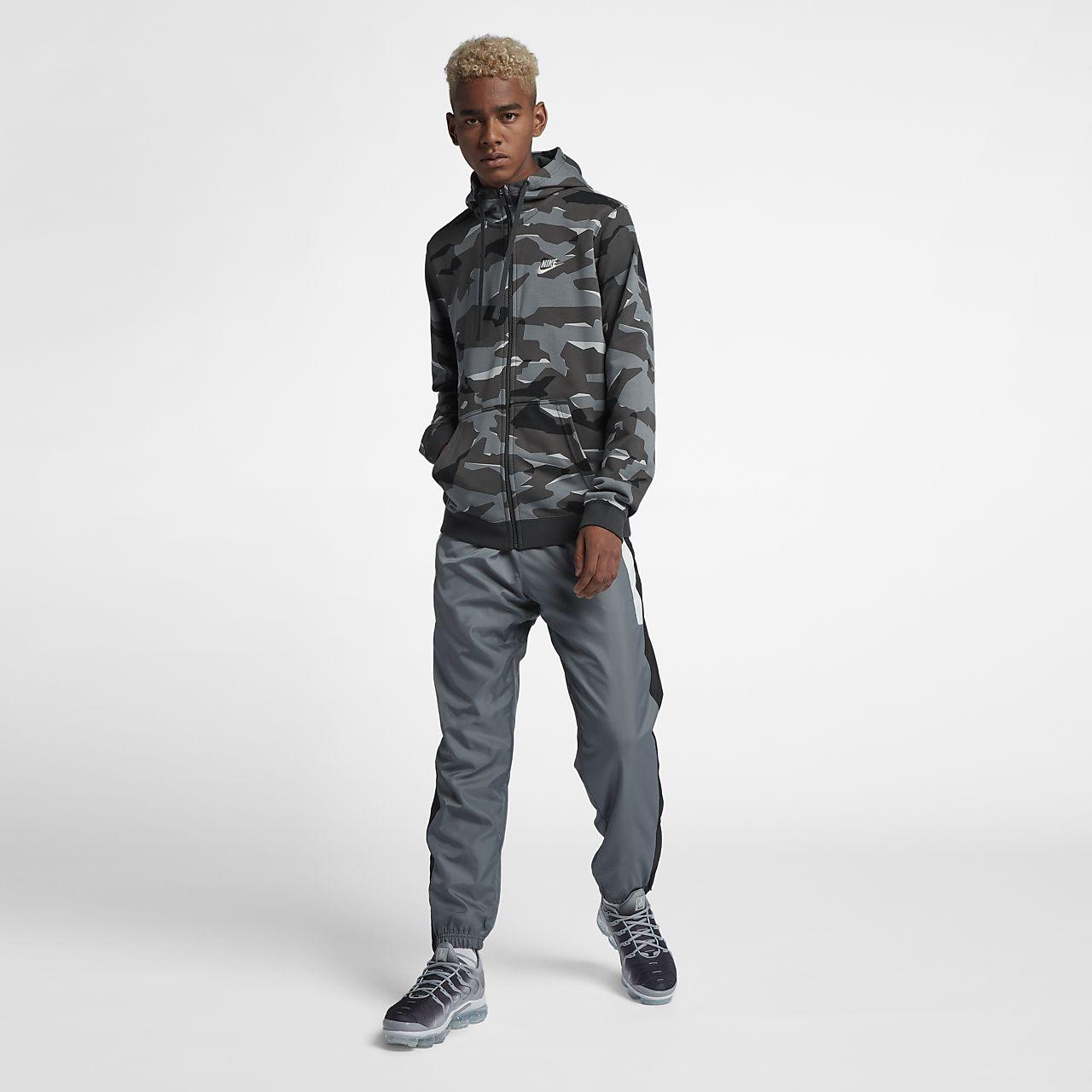 more photos 41d96 29c56 ... Nike Sportswear Club Fleece Men s Full-Zip Camo Hoodie