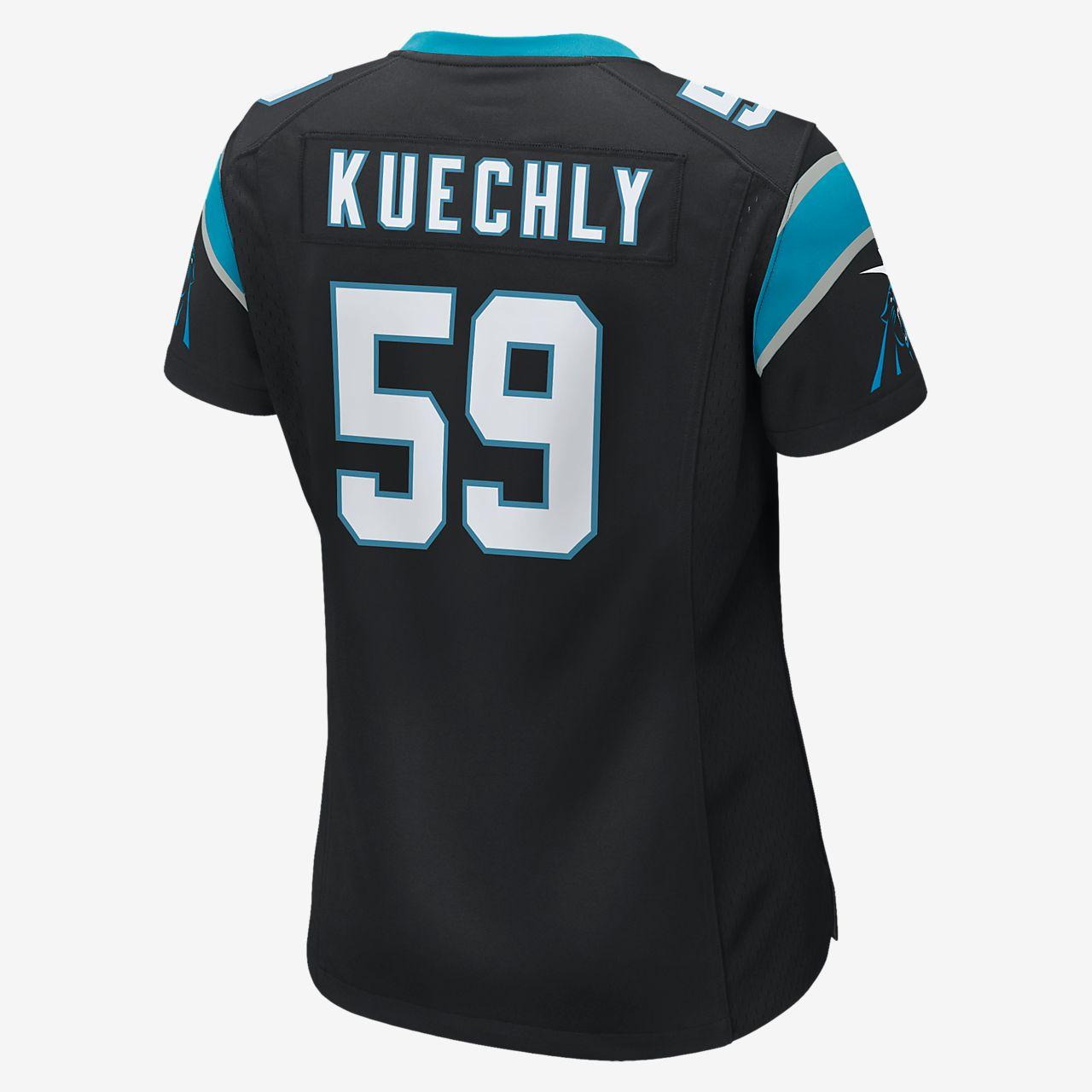 81120dcf ... NFL Carolina Panthers (Luke Kuechly) Women's Football Home Game Jersey