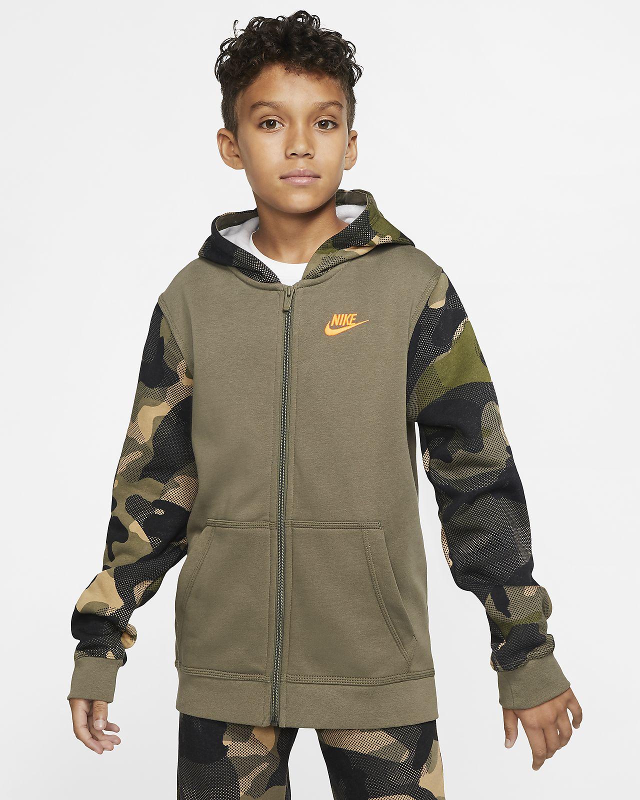 Nike Sportswear Club Big Kids' (Boys') Full-Zip Hoodie