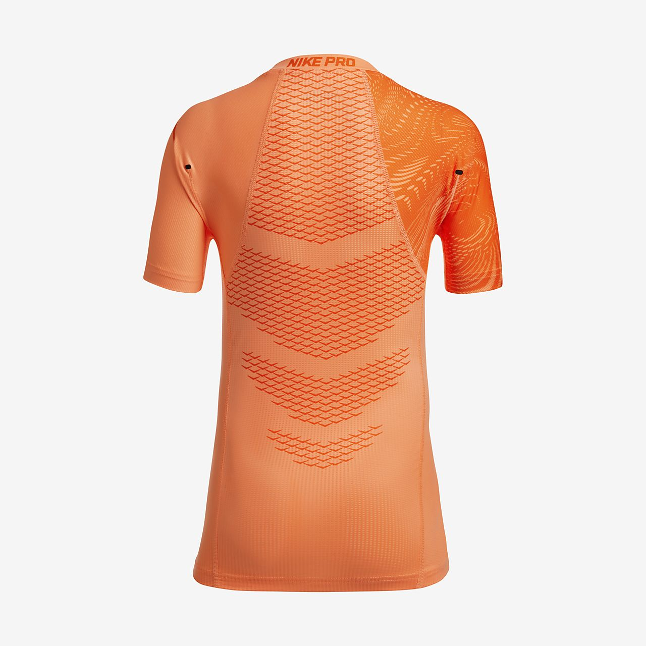 Nike Pro HyperCool Big Kids' Short Sleeve Training Tops Orange
