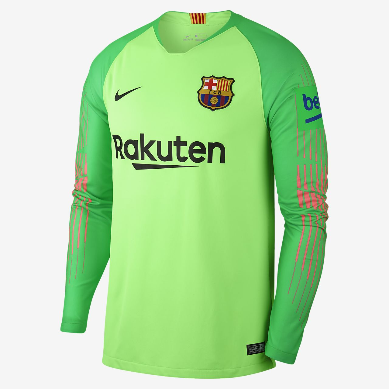 2018/19 FC Barcelona Stadium Goalkeeper Men's Football Shirt
