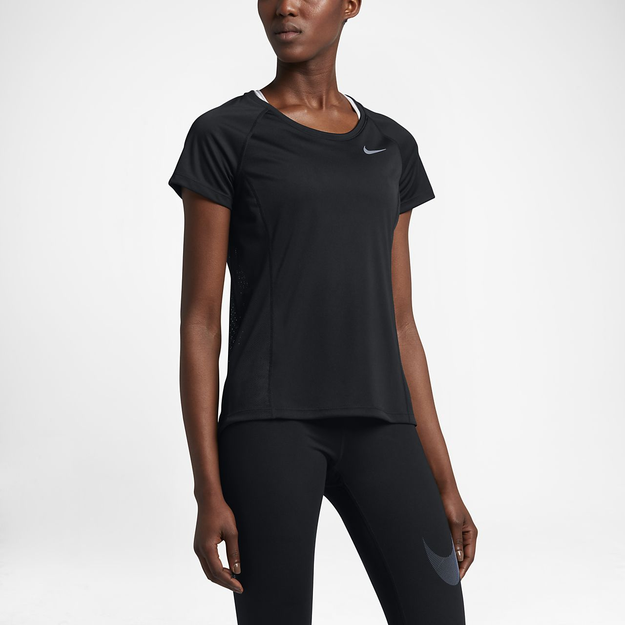 Nike Dry Miler Women s Short-Sleeve Running Top. Nike.com IN ee542c7e5