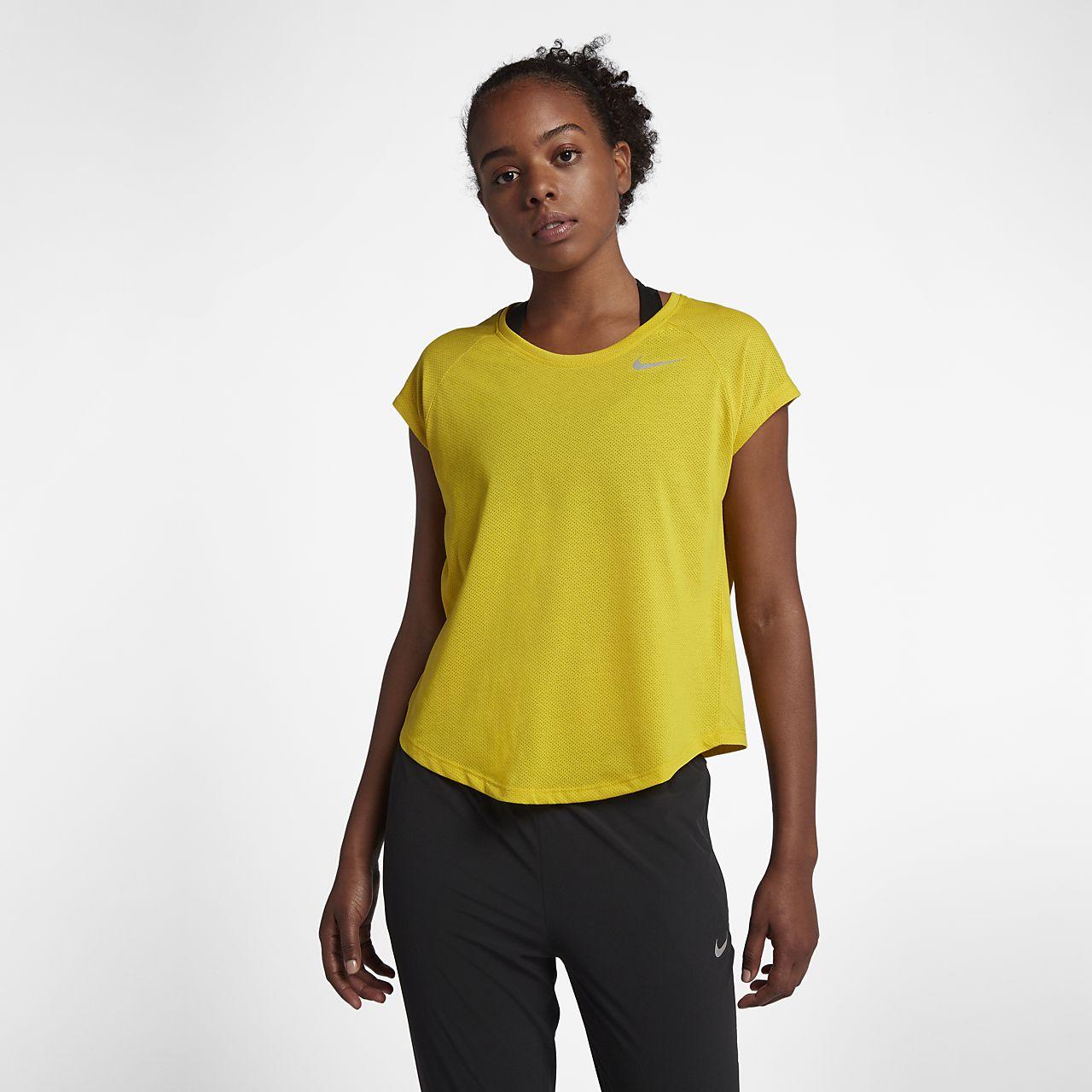 huge selection of 60255 9cb4f ... Nike Tailwind-løbeoverdel med korte ærmer til kvinder