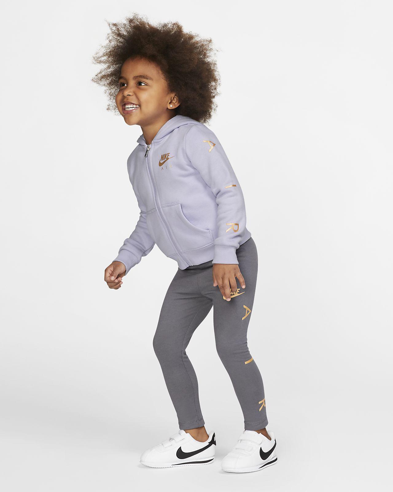 Bluza z kapturem i legginsy dla maluchów Nike Air (dwuczęściowy zestaw)