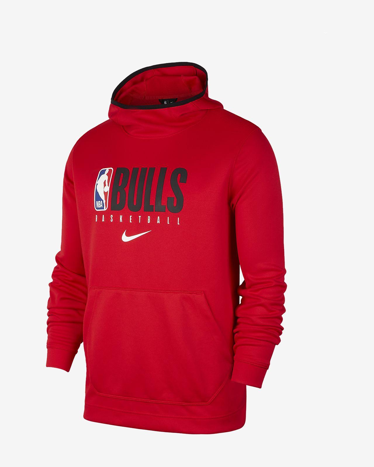 Felpa Chicago Bulls con cappuccio Nike Spotlight NBA Uomo