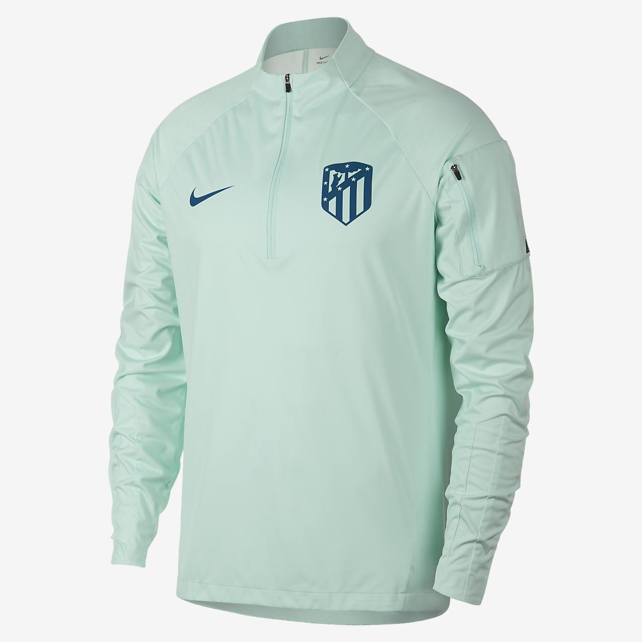 Nike Boy/'s Shield Squad Training Drill Futbol Soccer 1//4 Zip Top Black White NWT