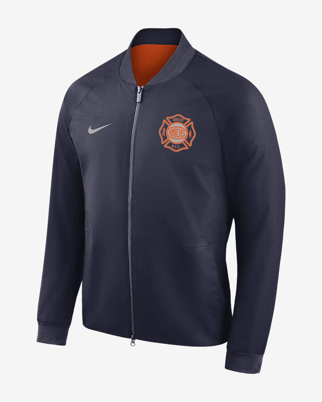 New York Knicks City Edition Nike Modern Men s NBA Varsity Jacket ... e133e6317