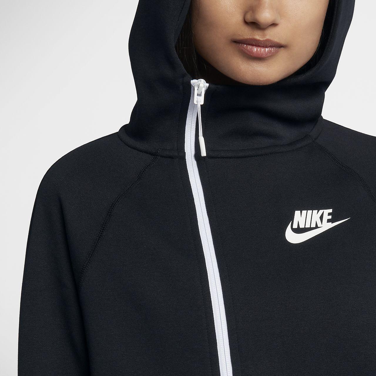 6ced39ab ... Nike Sportswear Tech Fleece cape med glidelås i full lengde for dame