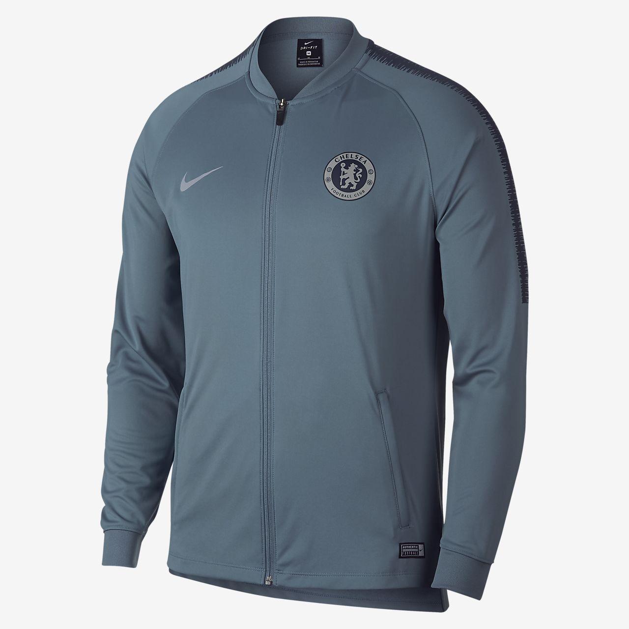 Ανδρικό ποδοσφαιρικό τζάκετ φόρμας Chelsea FC Dri-FIT Squad