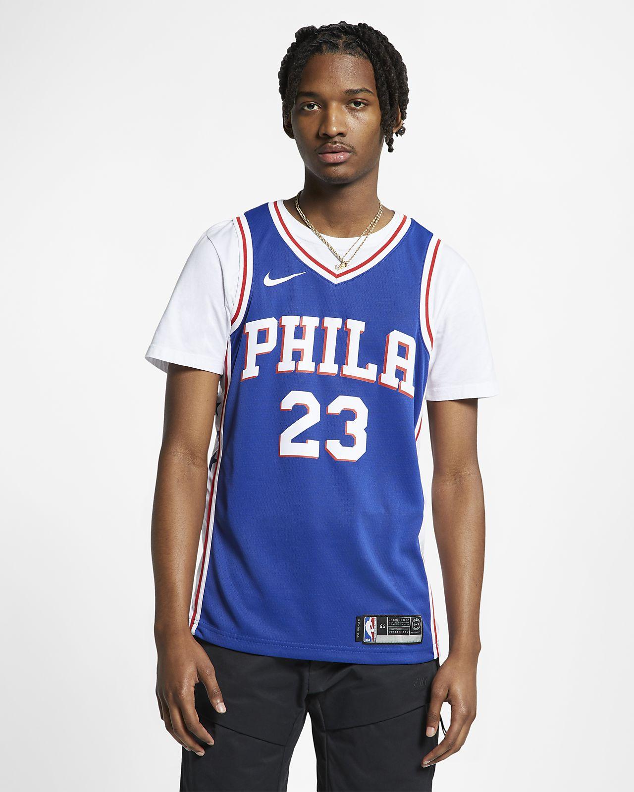 Maillot connecté Nike NBA Jimmy Butler Icon Edition Swingman (Philadelphia 76ers) pour Homme