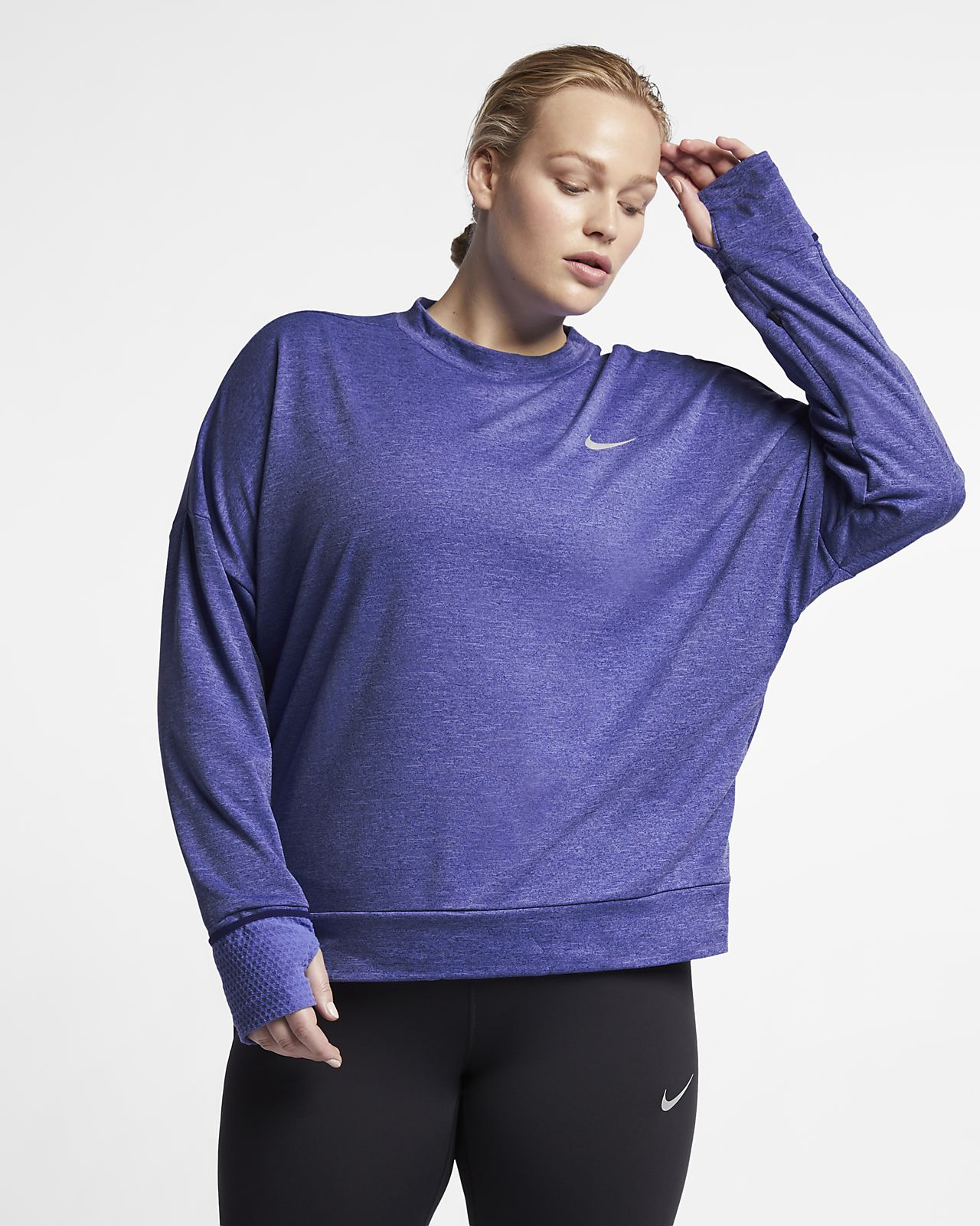 1957e39f3a5c6 Nike Sphere Element Women s Long-Sleeve Running Top (Plus Size ...