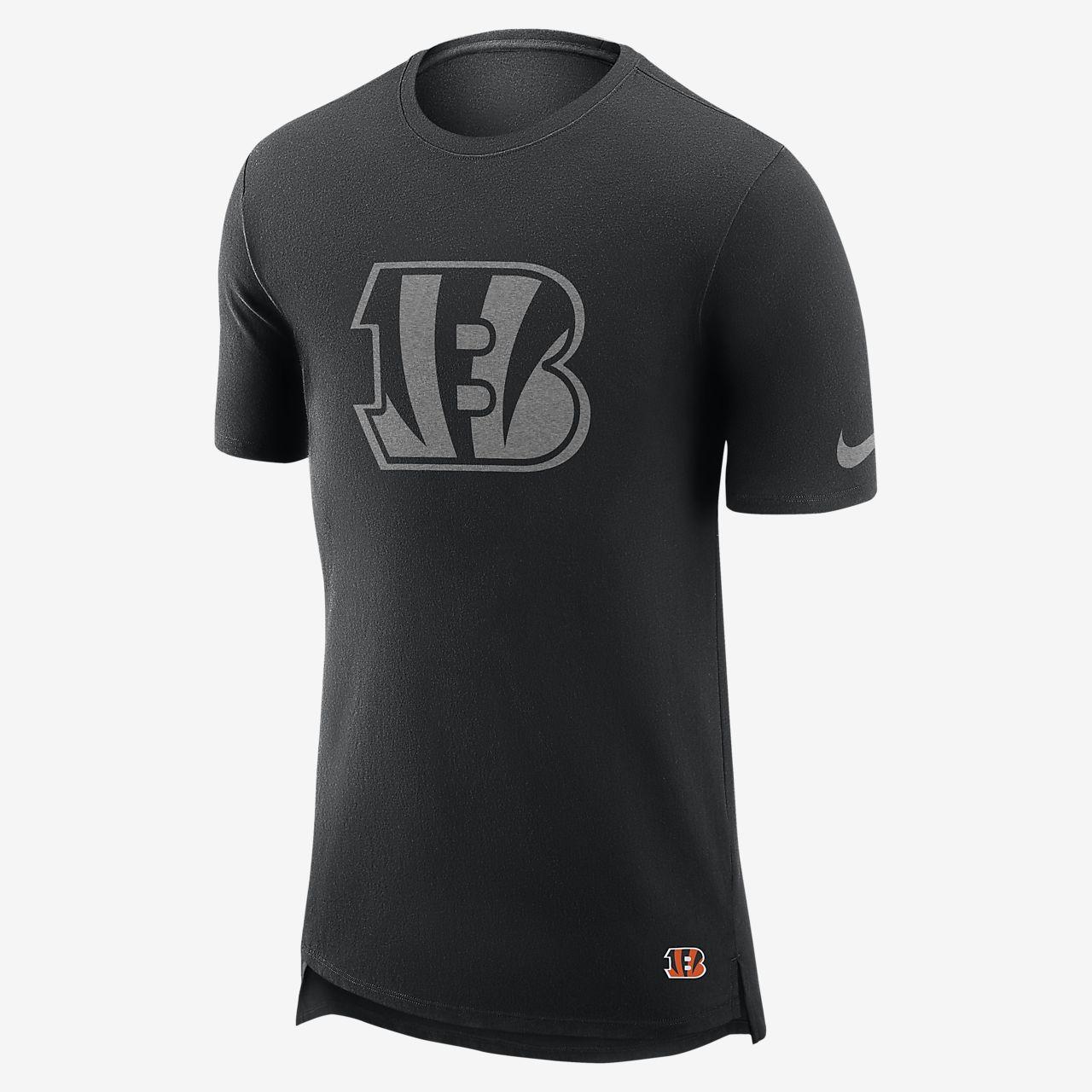 Playera para hombre Nike Enzyme Droptail (NFL Bengals)