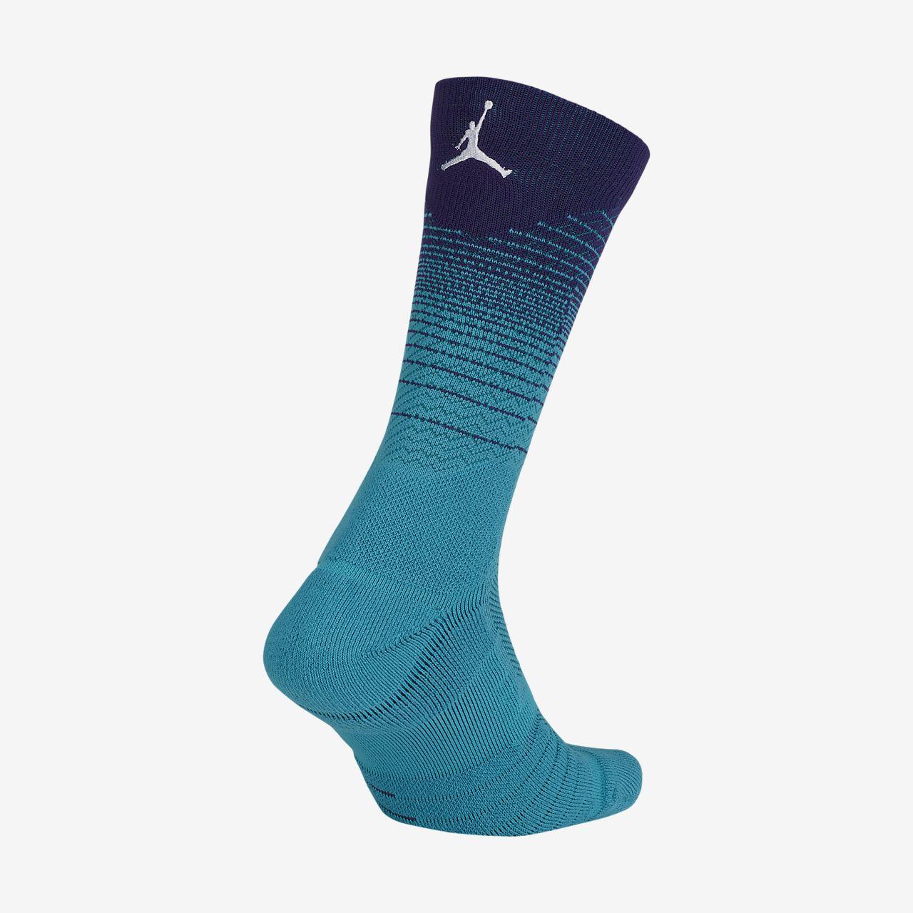 ... Chaussettes NBA mi-mollet mixtes Charlotte Hornets City Edition Jordan  Elite Quick