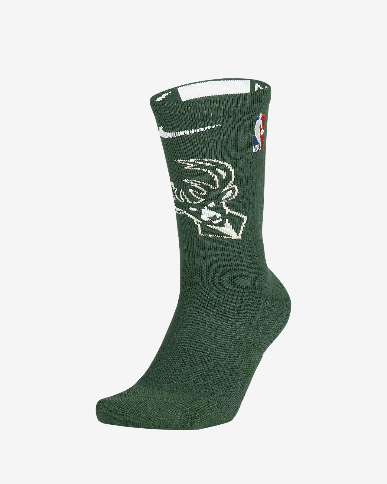 Milwaukee Bucks Nike Elite NBA Crew Socks