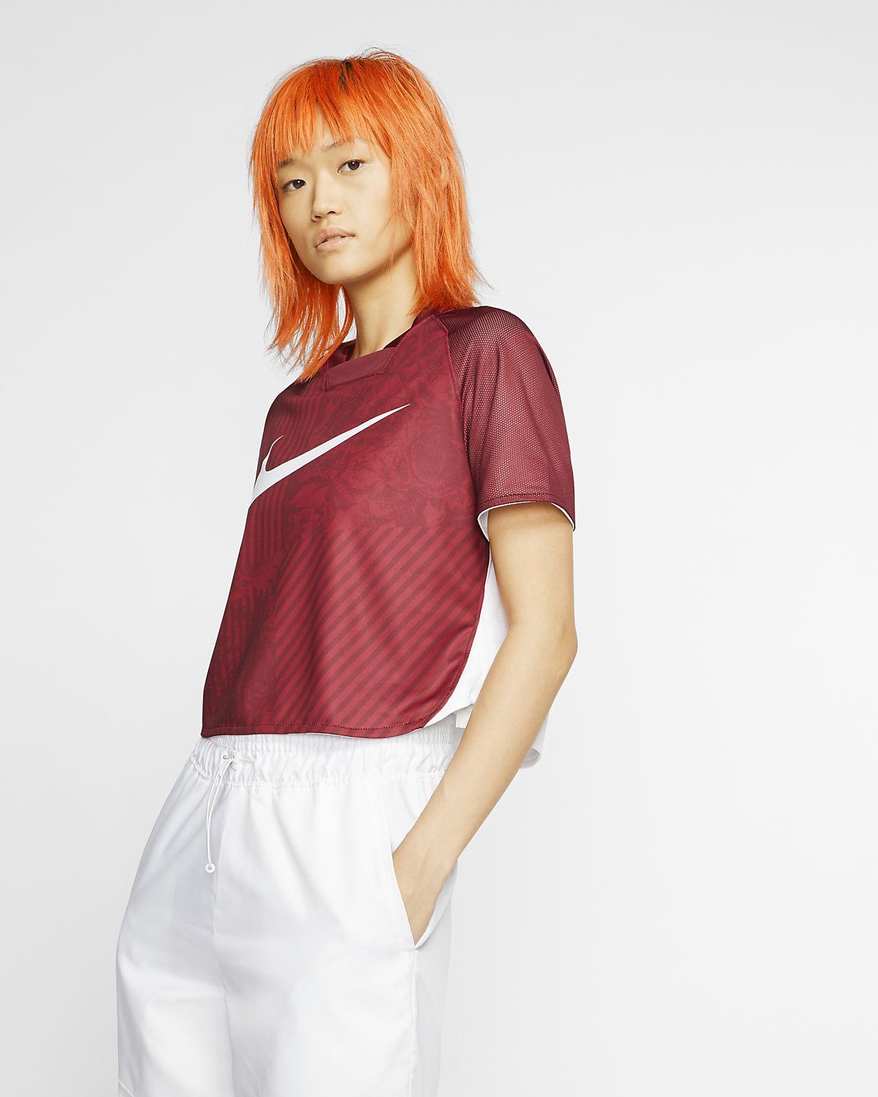 Prenda para la parte superior corta de manga corta para mujer Nike Sportswear Dri-FIT Unité Totale