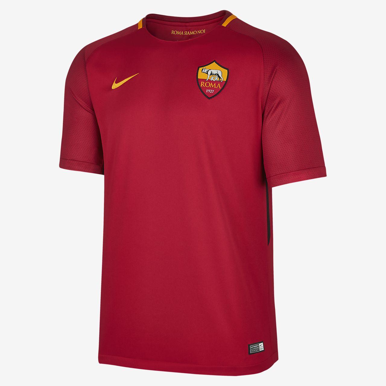 2017/18 A.S. Roma Stadium Home Men's Football Shirt