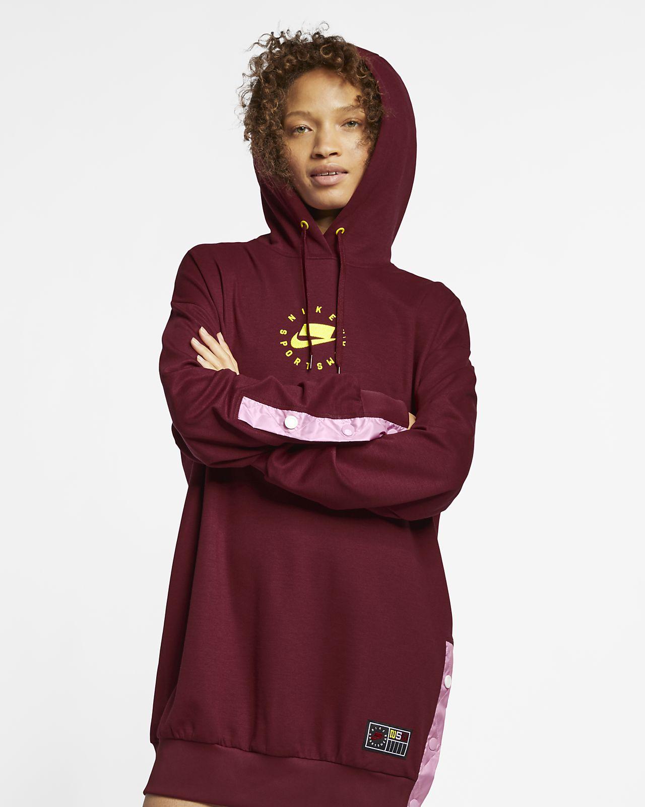 Klänning med huva Nike Sportswear NSW för kvinnor