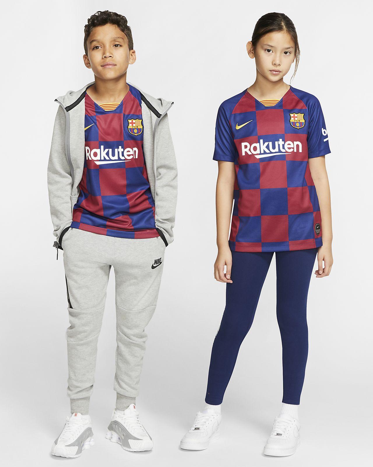 FC Barcelona 2019/20 Stadium Home Big Kids' Soccer Jersey