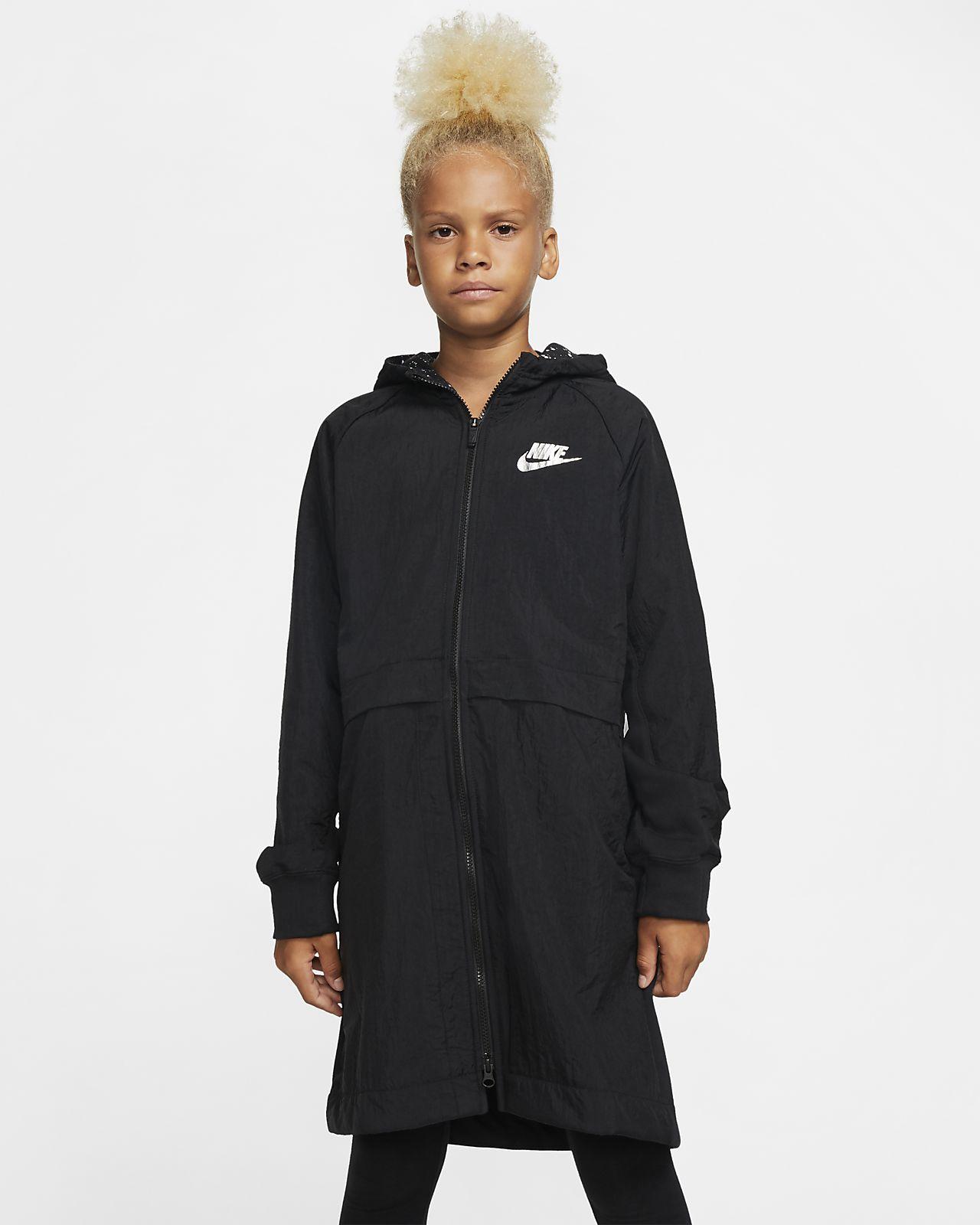 Nike Sportswear-fleeceparka til store børn (piger)