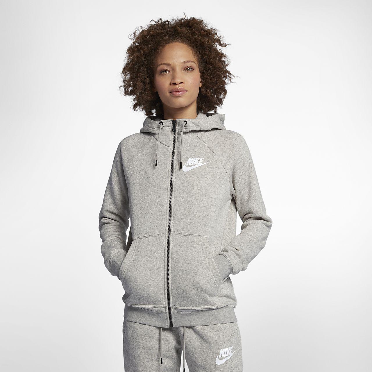 Huvtröja med hel dragkedja Nike Sportswear Rally för kvinnor
