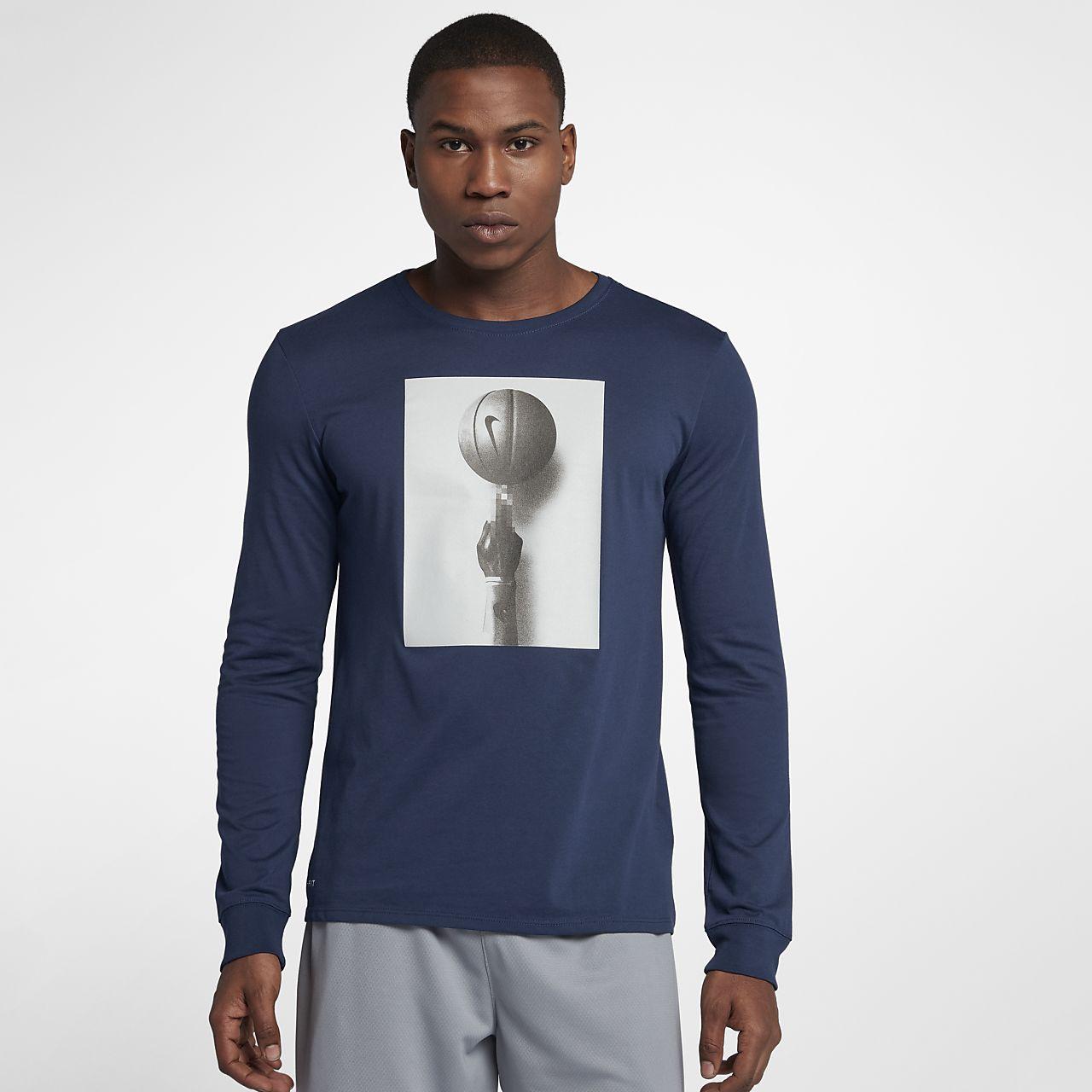 ... T-shirt da basket a manica lunga Nike Dri-FIT - Uomo