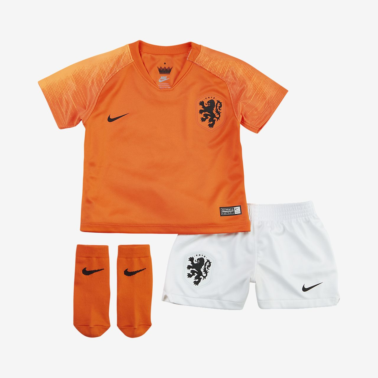 2018 Niederlande Stadium Home Fußballtrikot-Set für Kleinkinder