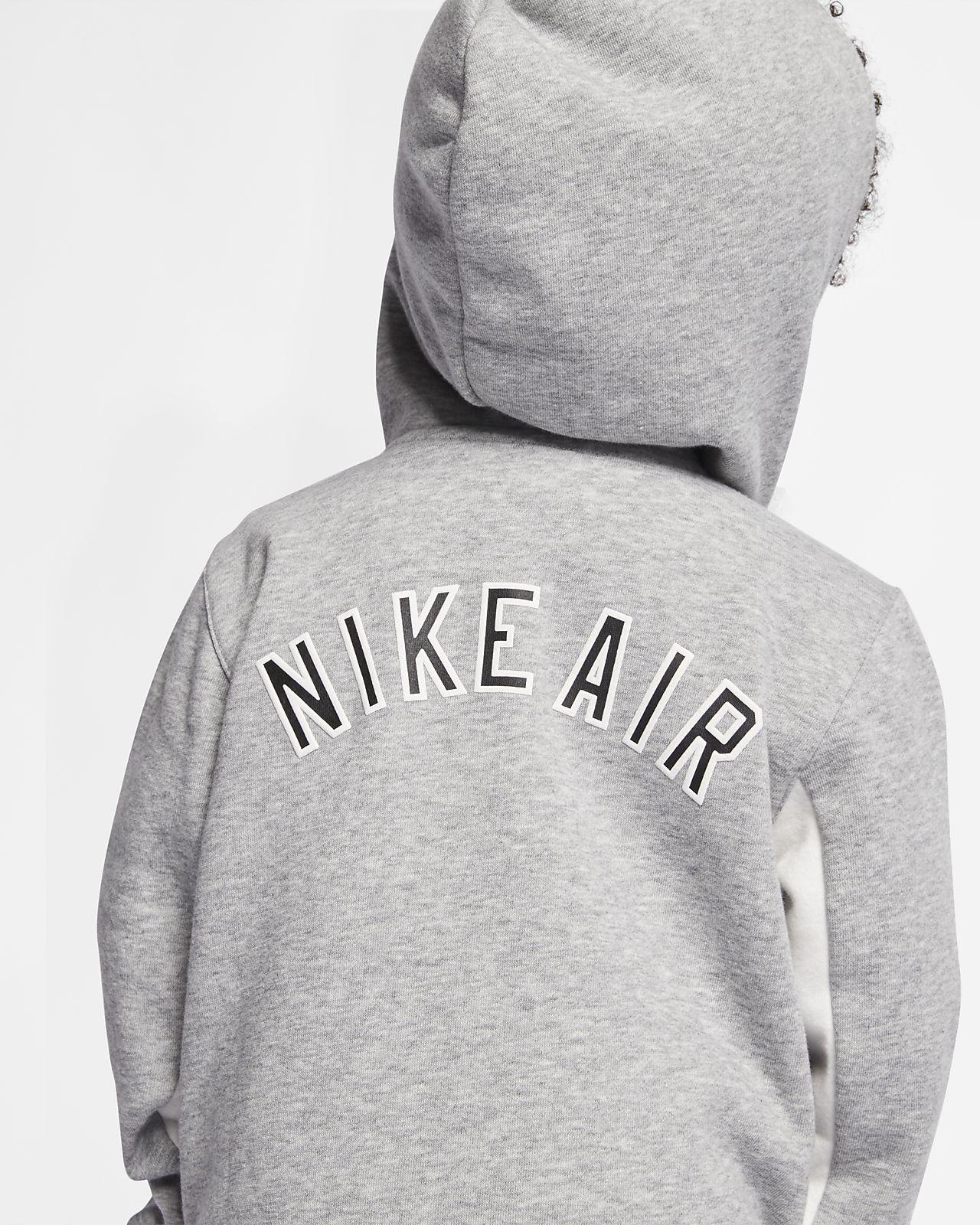 Nike Air fleecehættetrøje med lynlås i fuld længde til små børn. Nike DK