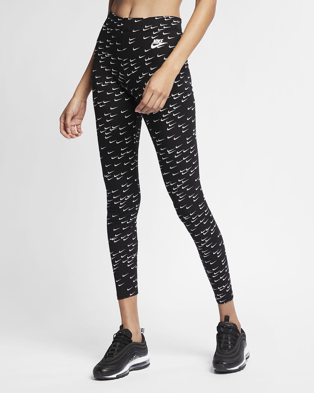 timeless design 5ea07 54d97 Nike Sportswear Leg-A-See Swoosh-leggings med print til kvinder