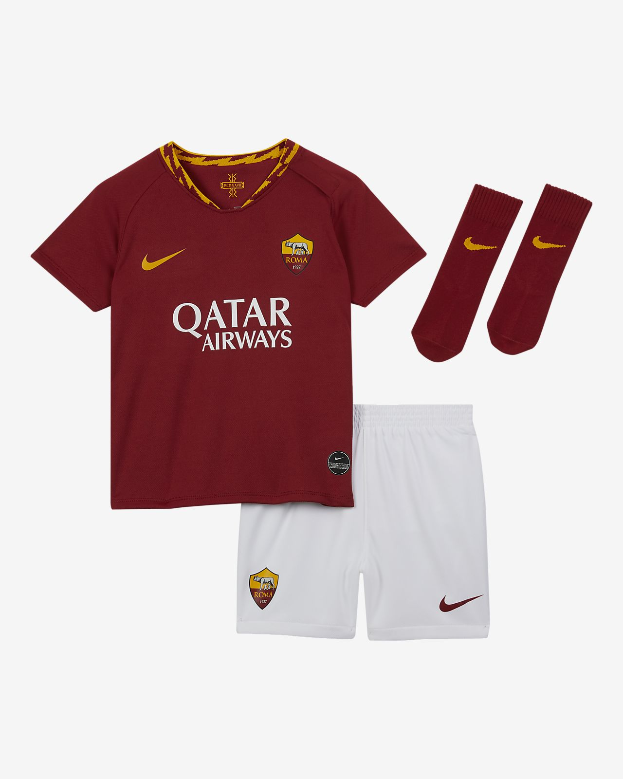 Kit de fútbol para bebé e infantil de local A.S. Roma 2019/20