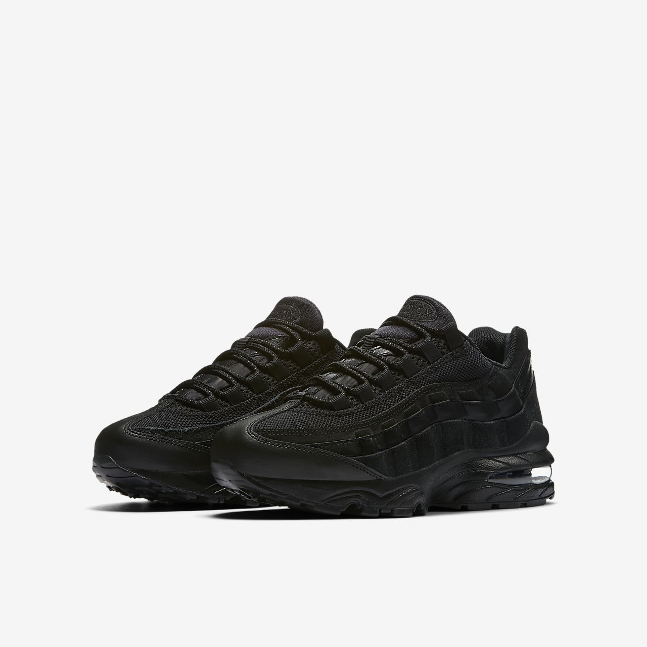 Nike Air Max 95 Sneakers In All Black size 10.5 ASOS | Nike