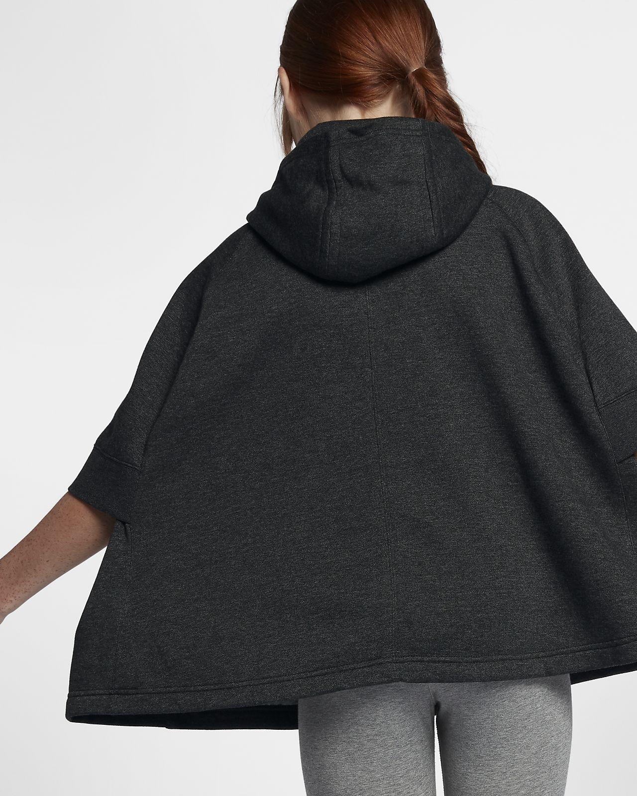 Gut bekannt Pull poncho demi-zippé Nike Sportswear pour Fille plus âgée. Nike  RT25