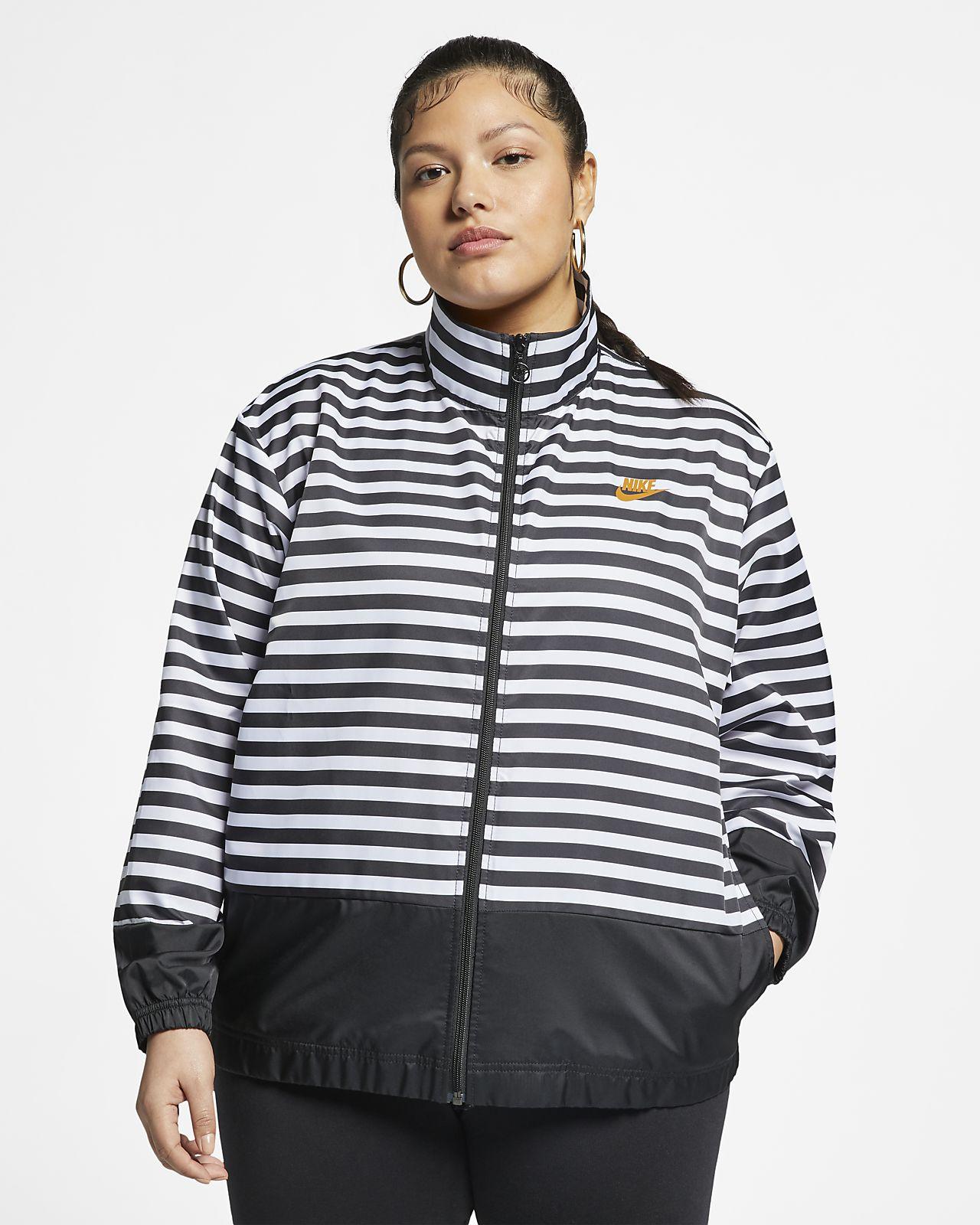 Nike Sportswear Dokuma Kadın Ceketi (Büyük Beden)