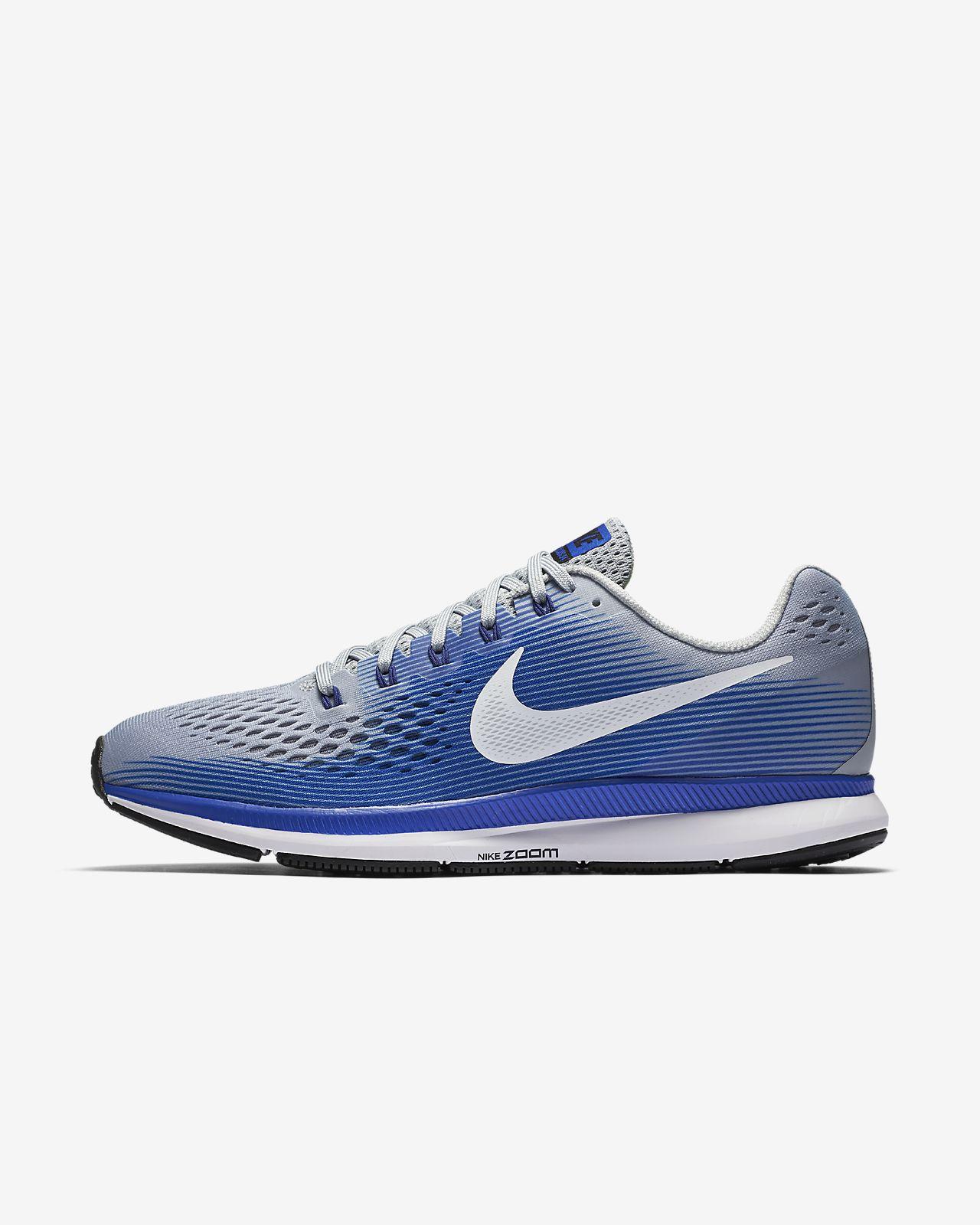 Nike Air Zoom Pegasus 34 Wolf Grey Racer Blue Deep Royal Blue White 880555007