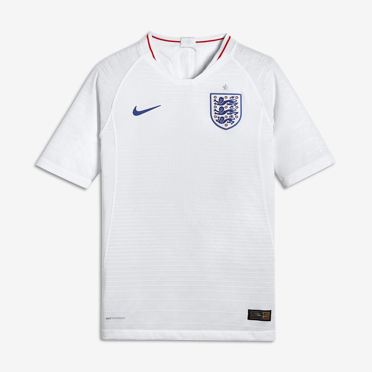 2018 England Vapor Match Home Fussballtrikot Fur Altere Kinder