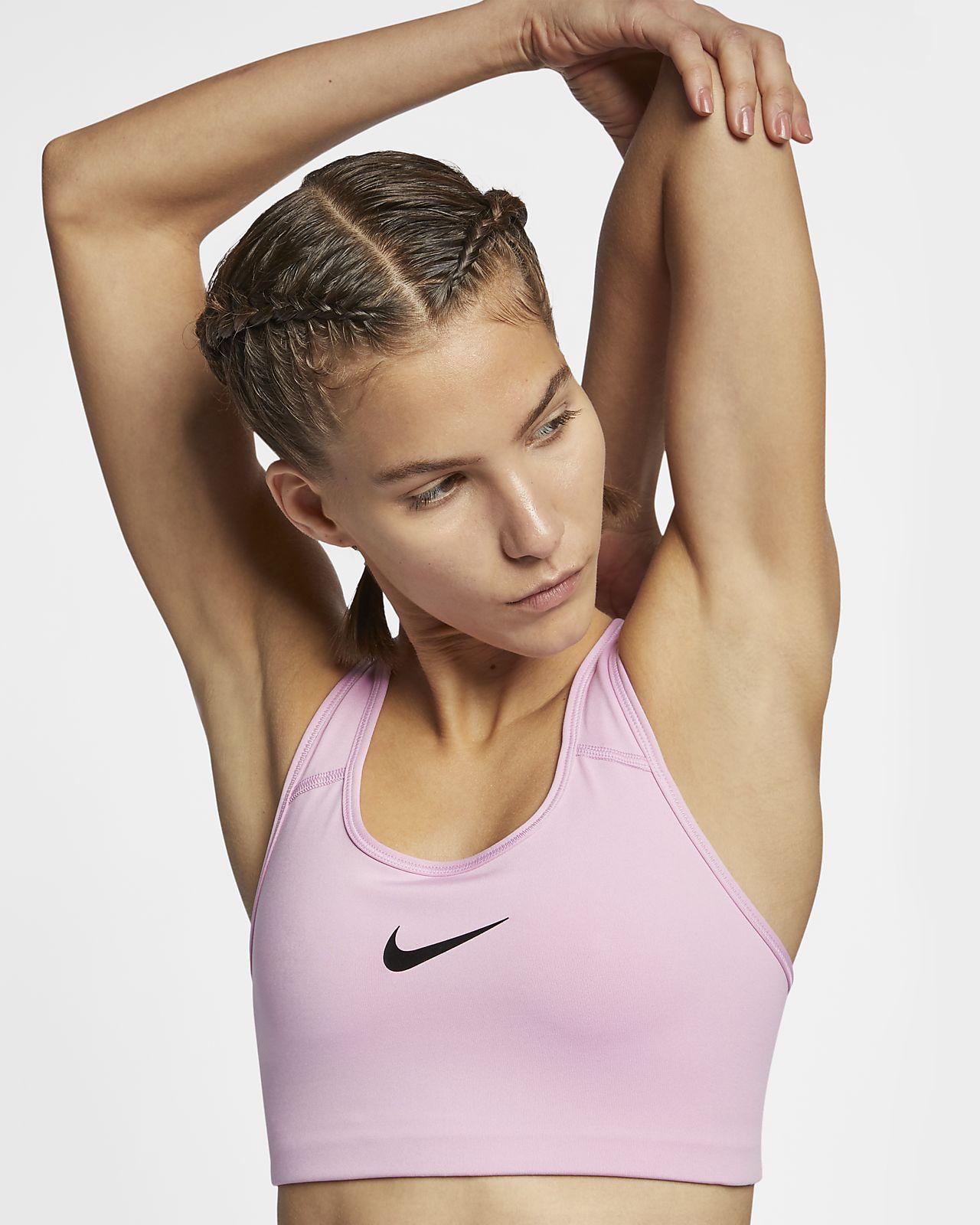 Damski stanik sportowy zapewniający średnie wsparcie Nike Swoosh
