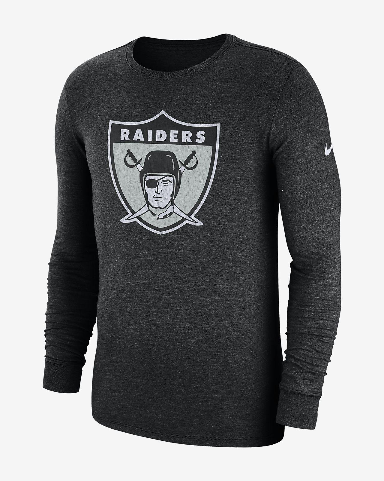 premium selection c6575 3823d Nike (NFL Raiders) Men's Tri-Blend Long-Sleeve T-Shirt