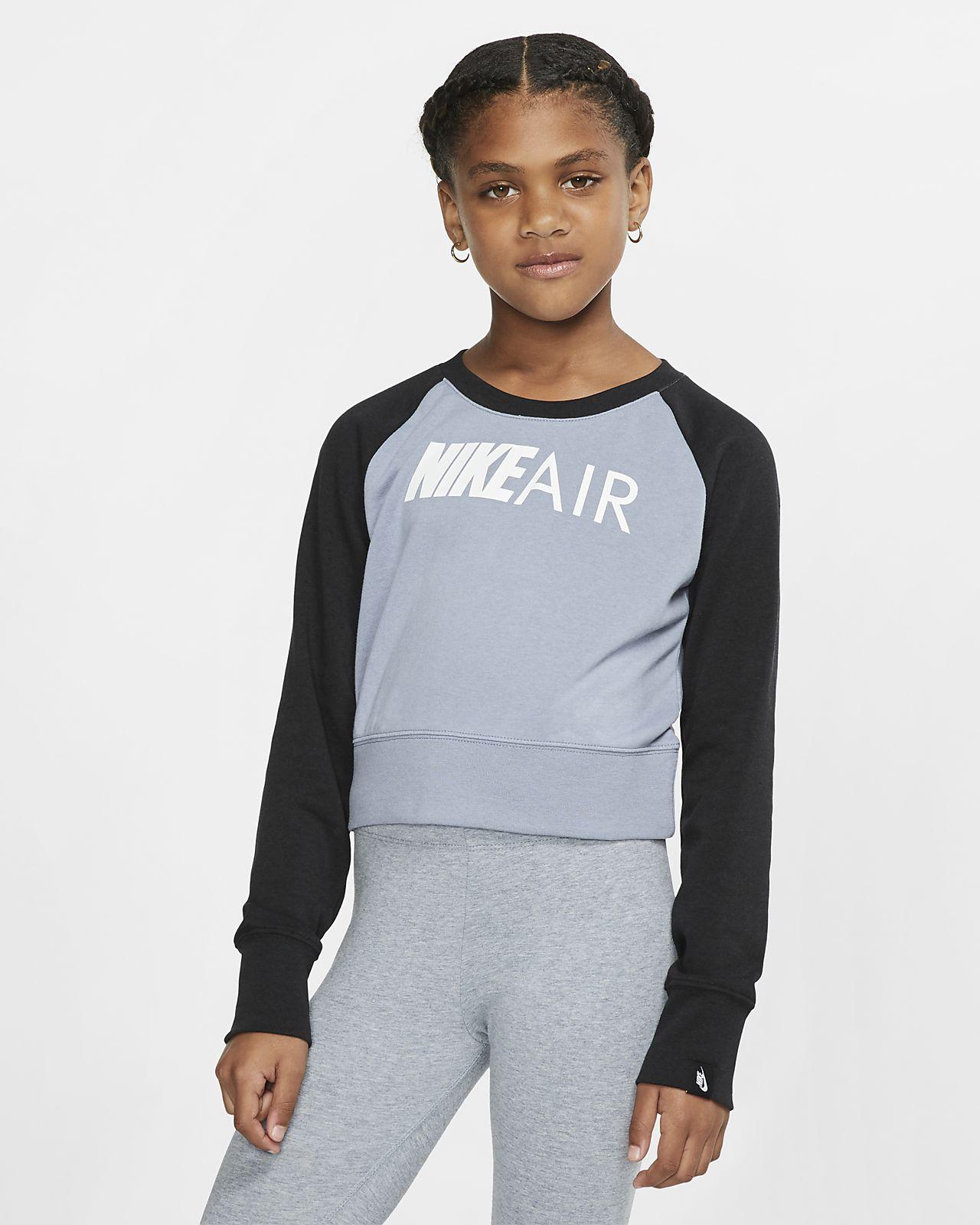 Nike Air kerek nyakkivágású pulóver nagyobb gyerekeknek (lányok)