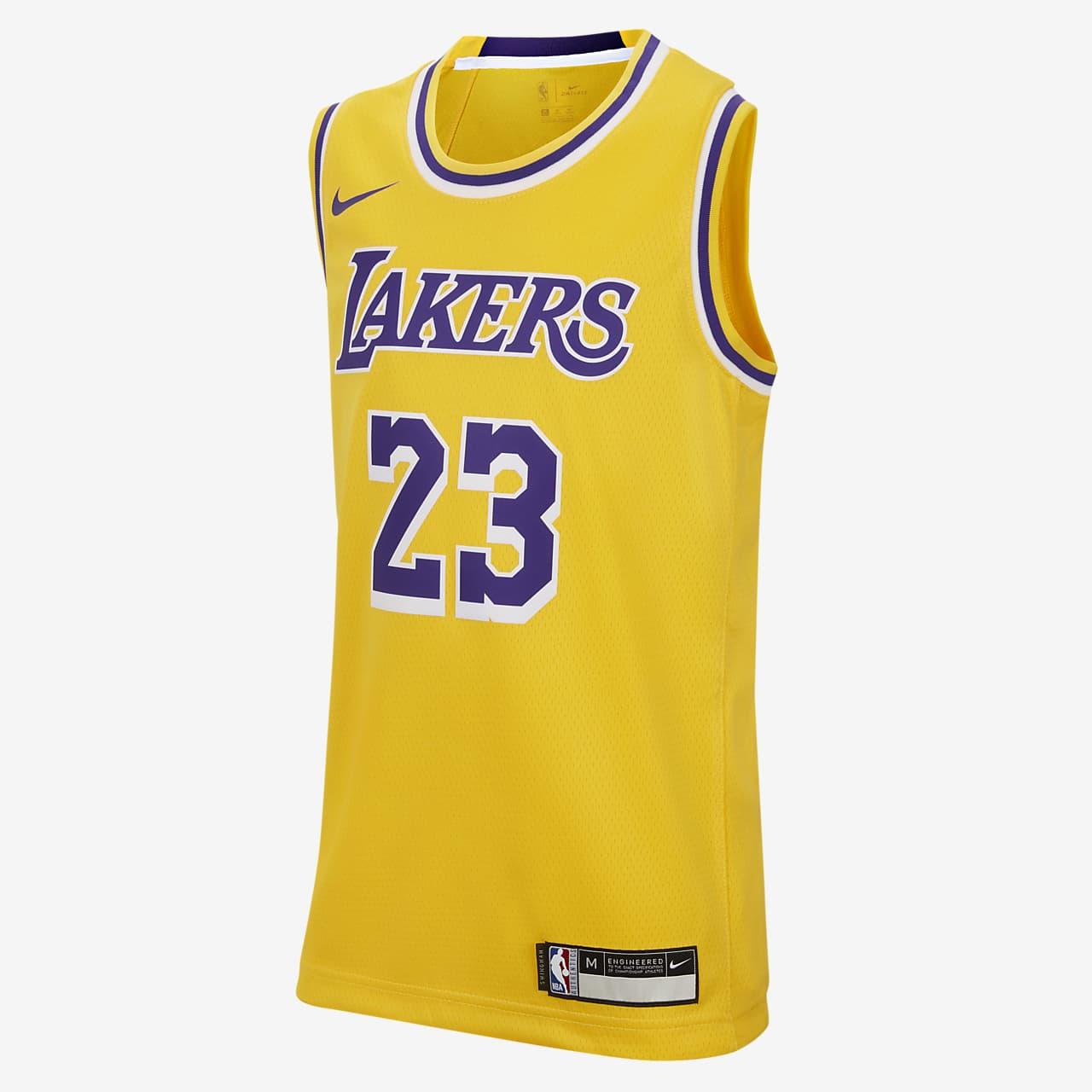 洛杉矶湖人队 Icon Edition SwingmanNike NBA Jersey大童(男孩)球衣