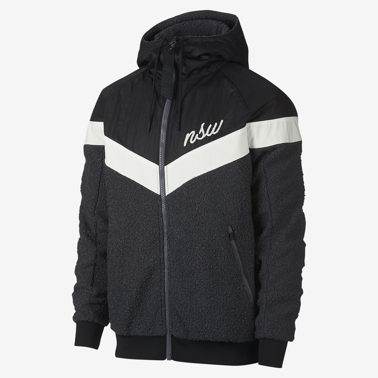 buying now free delivery new lifestyle Nike Sportswear Windrunner Sherpa-Jacke für Herren