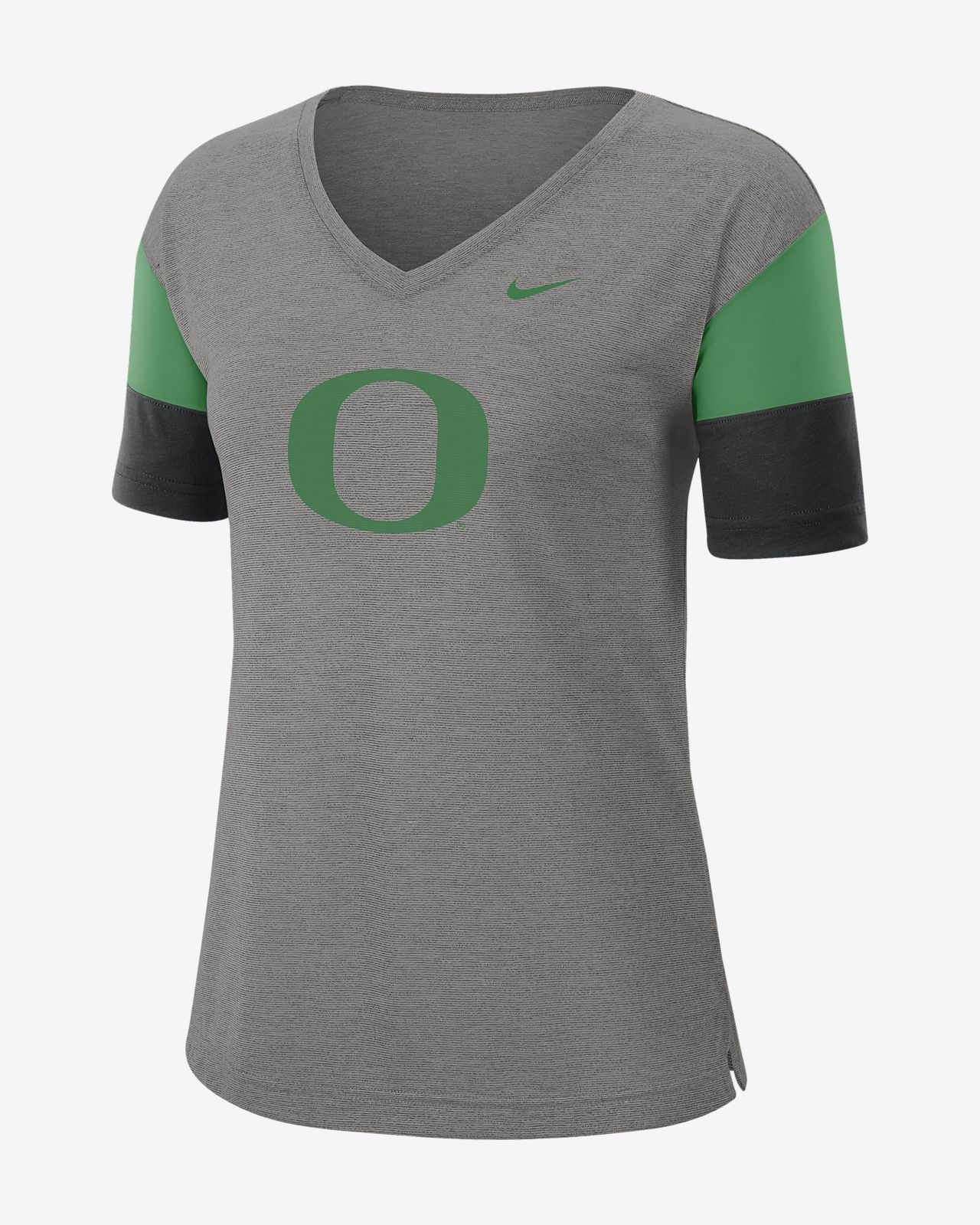 Nike College Breathe (Oregon) Women's Short-Sleeve V-Neck Top