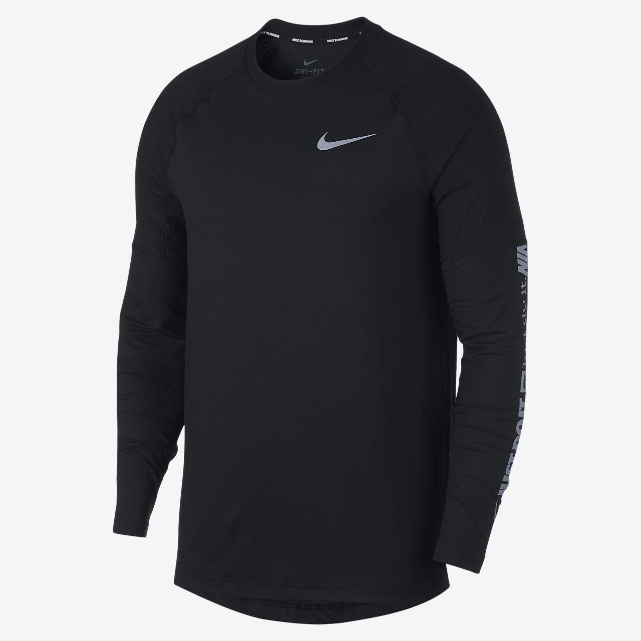 เสื้อวิ่งแขนยาวผู้ชาย Nike Element