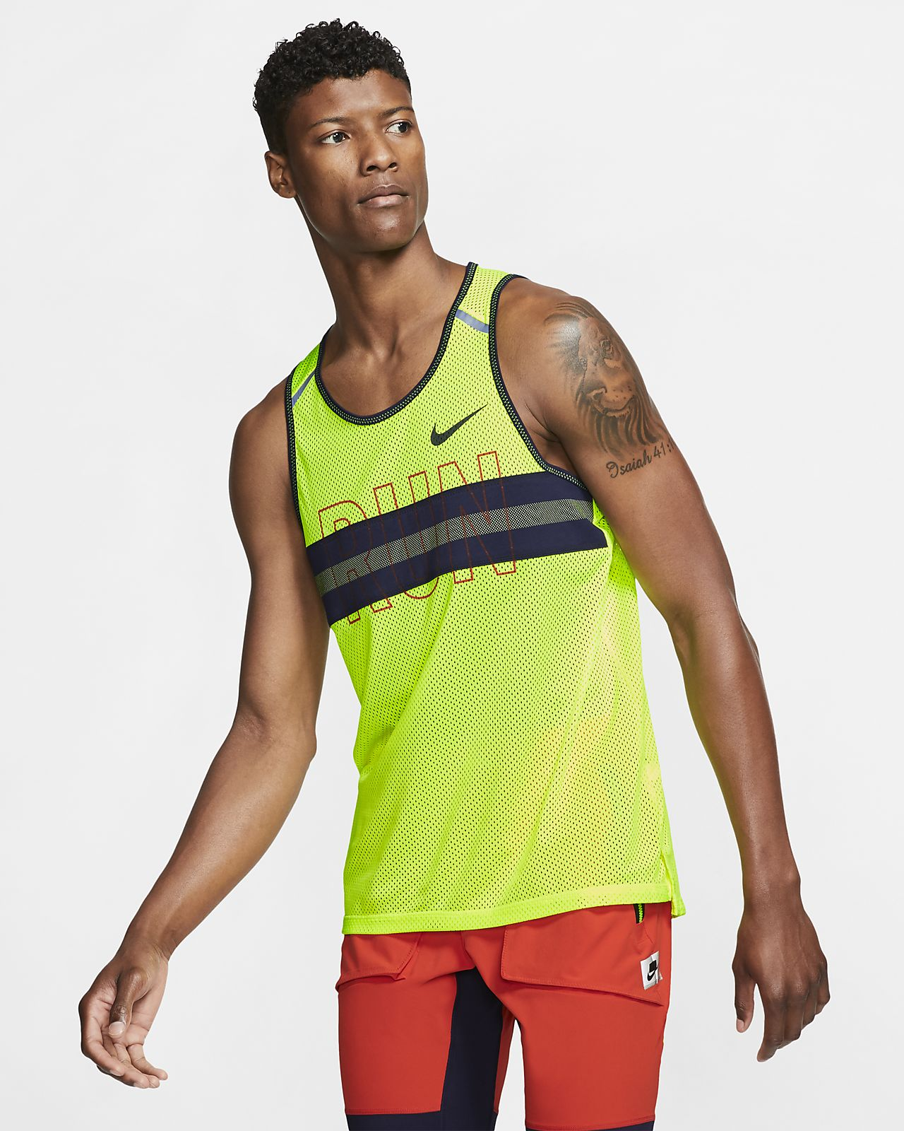 Nike Wild Run-løbetanktop i mesh til mænd