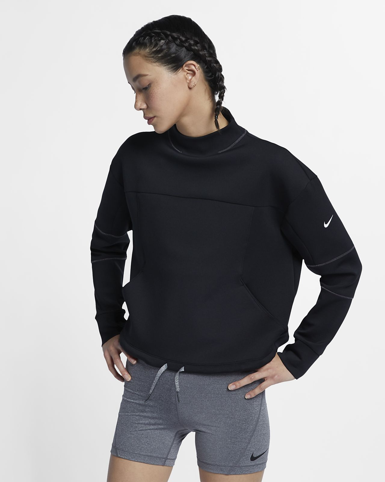 22f5fc691f0e1 Nike Dri-FIT Women s Long-Sleeve Cropped Training Top. Nike.com NO
