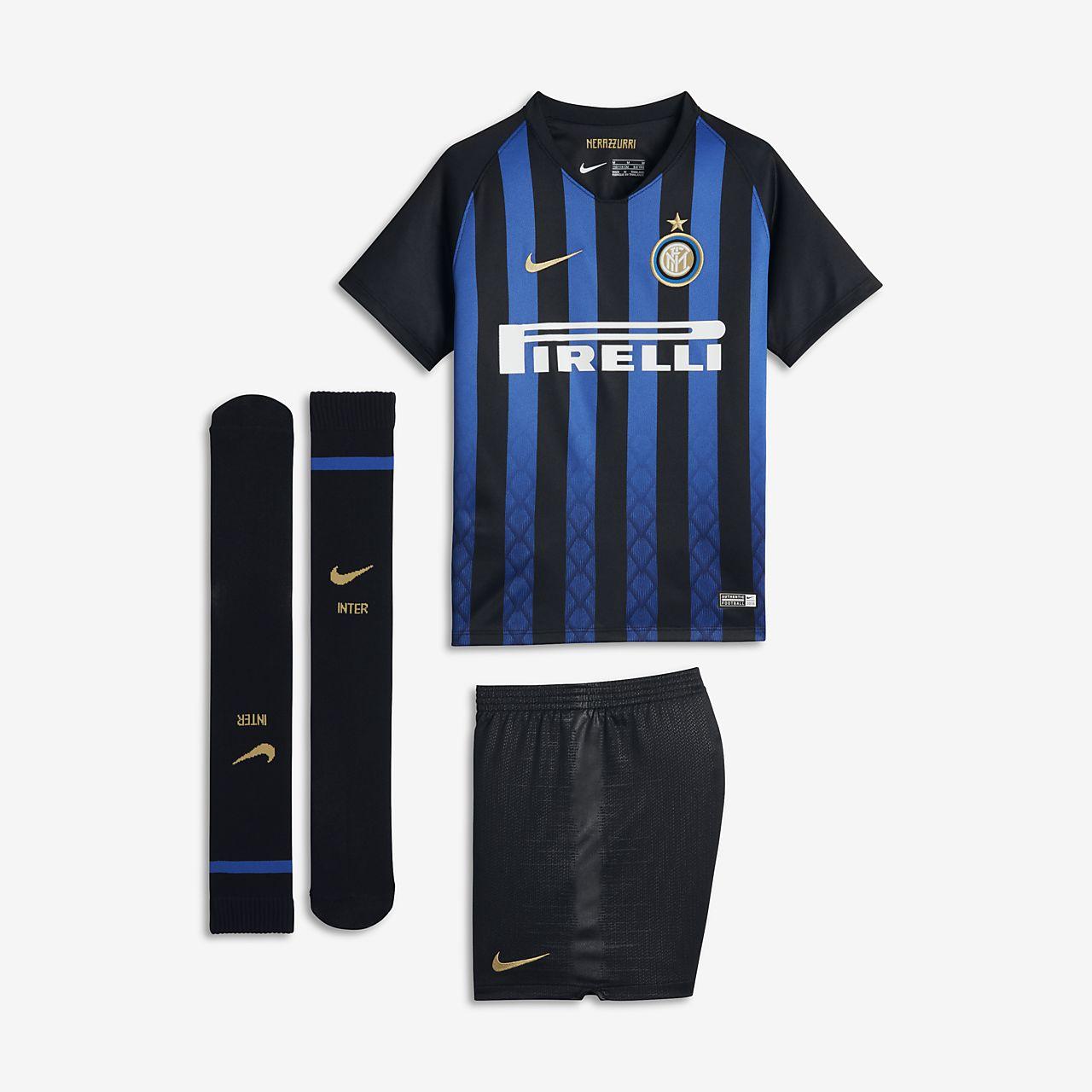 2018/19 Inter Mailand Stadium Home Fußballtrikot-Set für jüngere Kinder