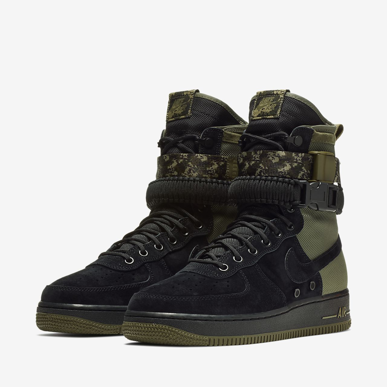 Nike SF Air Force 1 Men's Lifestyle Boots Black jO3646J