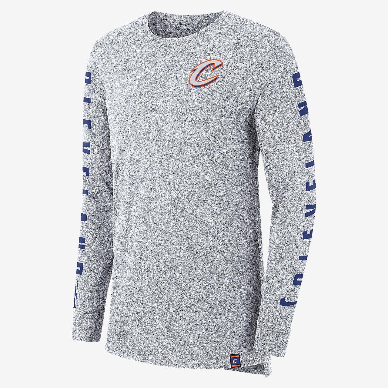 เสื้อยืด NBA แขนยาวผู้ชาย Cleveland Cavaliers City Edition Nike