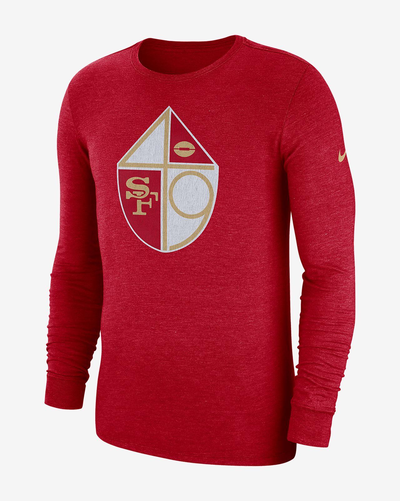 T-shirt a manica lunga Tri-Blend Nike (NFL 49rs) - Uomo