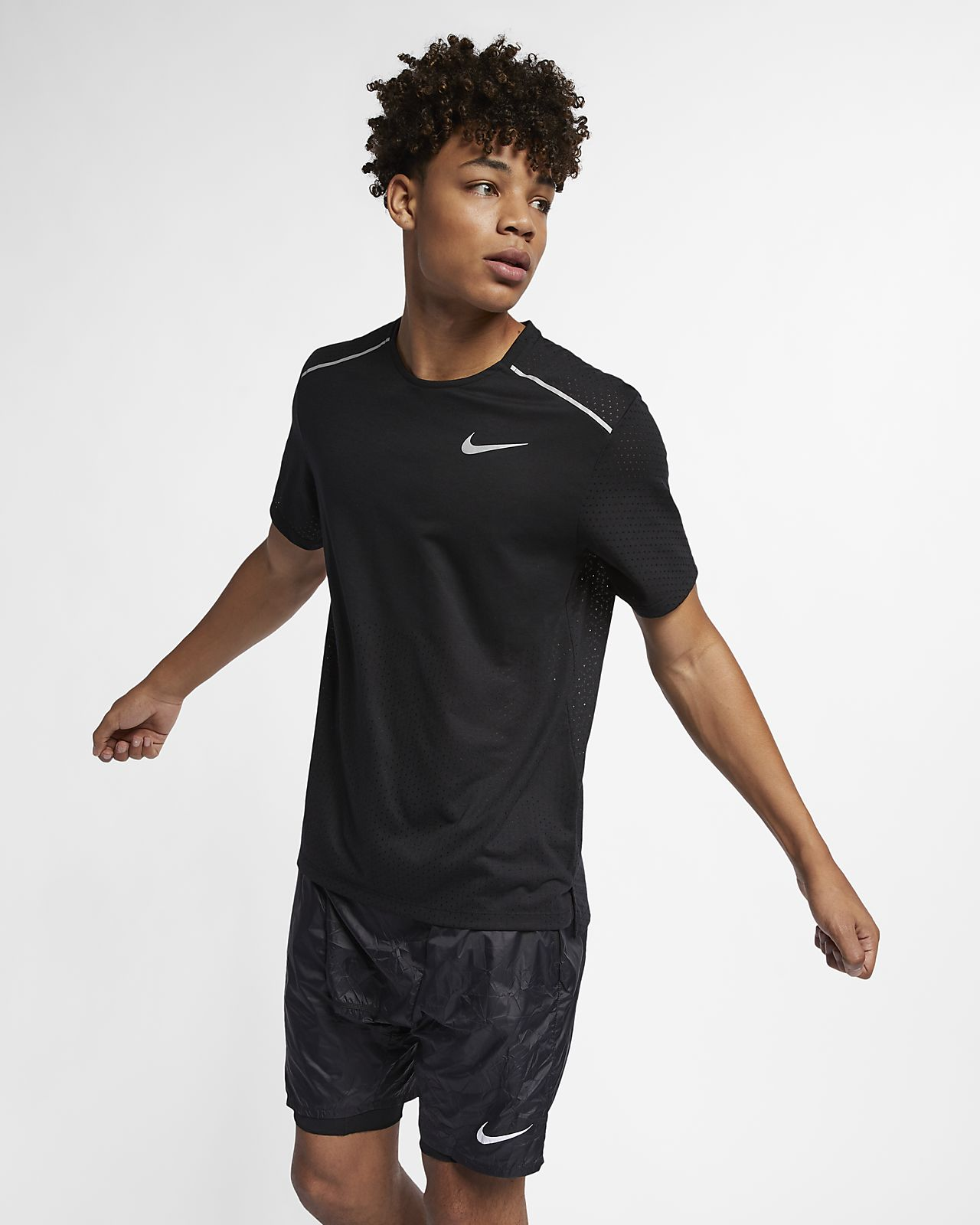 เสื้อวิ่งแขนสั้นผู้ชาย Nike Rise 365