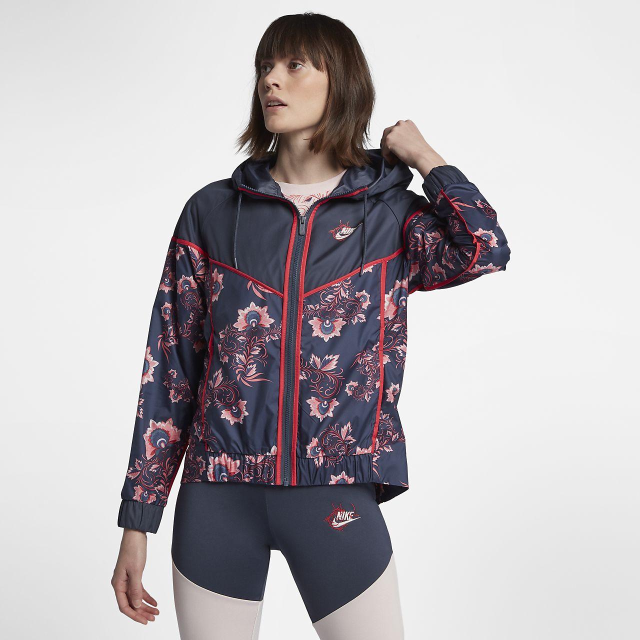 ... Nike Sportswear Windrunner Floral Women's Printed Jacket