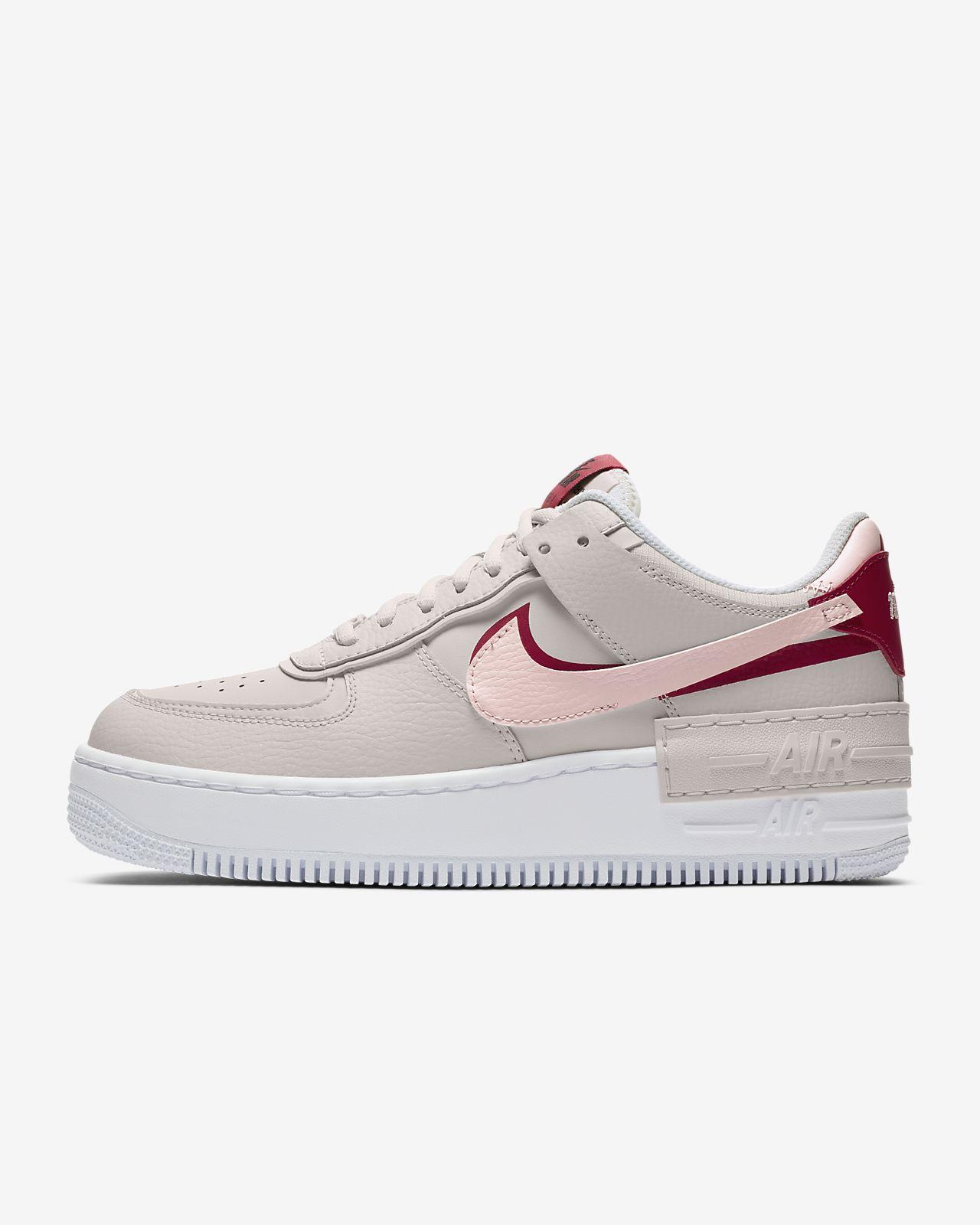 Nike Air Force 1 Low Womens Trainers White Pearl PinkWhite